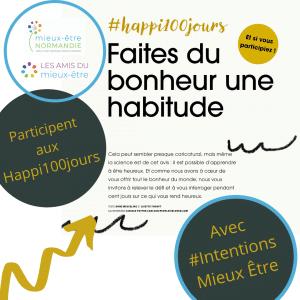 Intentions Mieux être : Le #Happy100jours